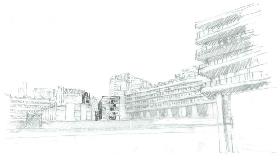 Sketch A beacon in the city Kit Ling Lam