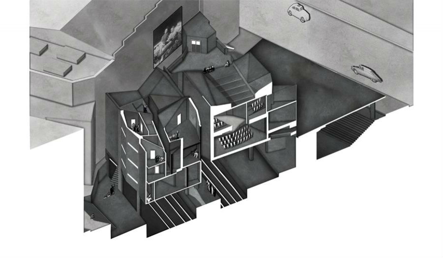 Cutaway iso section of scheme within KGX Jack Taylor Studio 6