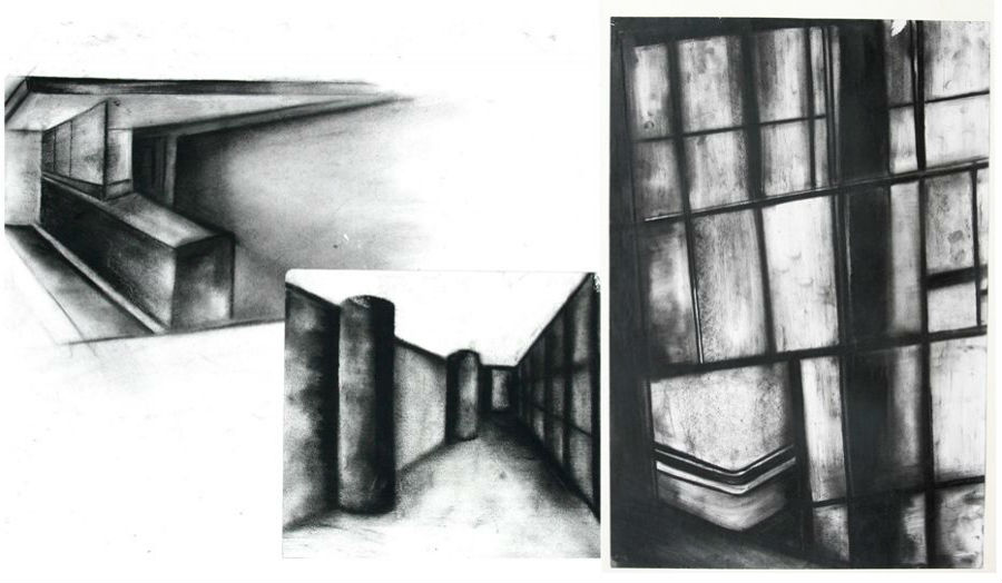 Looking through Drawing study of light Afra Ahmed Mohamed