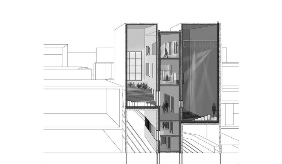 Sectional perspective noor Kassam Studio 6