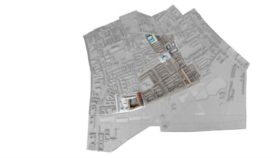 Aylesbury Estate Master Plan Group site model with massing proposals studio 4