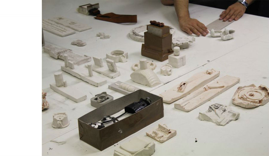 Casting Workshop Early stages of model making