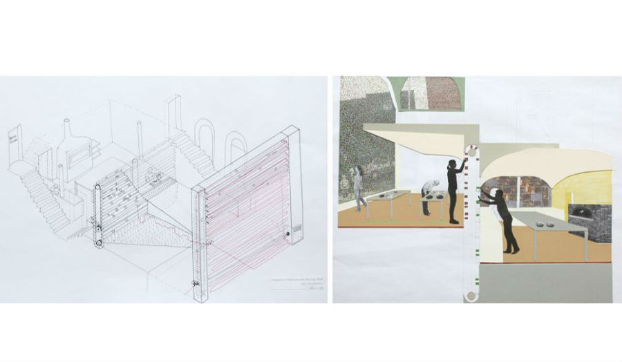 Luke Vouckelatou Spatial concept for a workhome