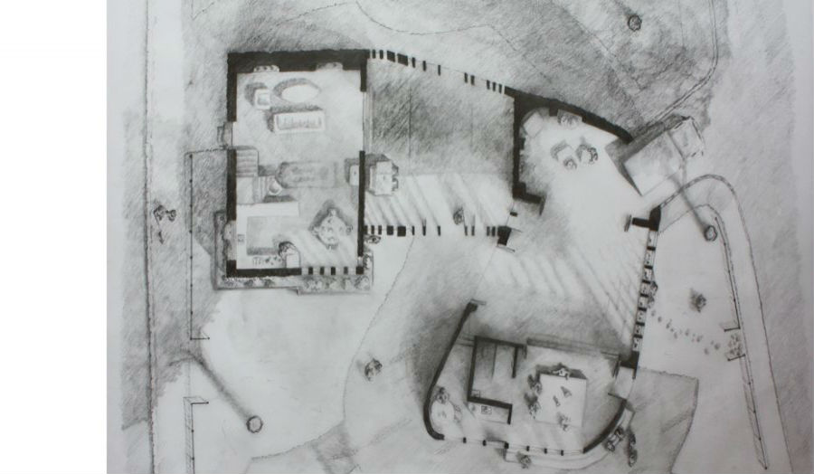 Nigel Garcia Inhabited plan of building on site