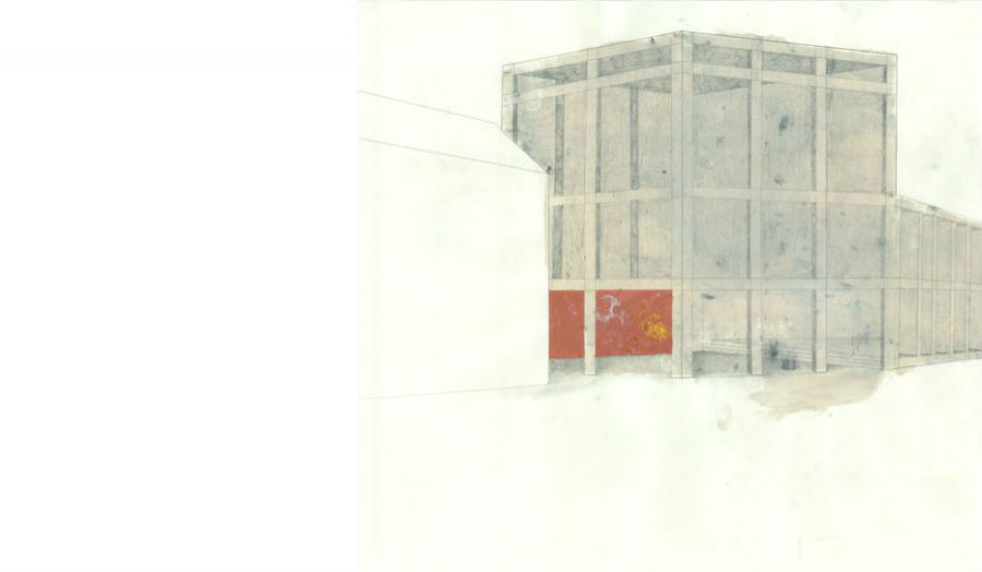 Sophie James Proposed town hall, façade concept Studio 5