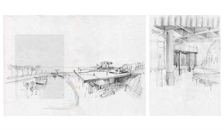 William Le Gresley sketch Market and Community Building Unit 9 RIBA 2