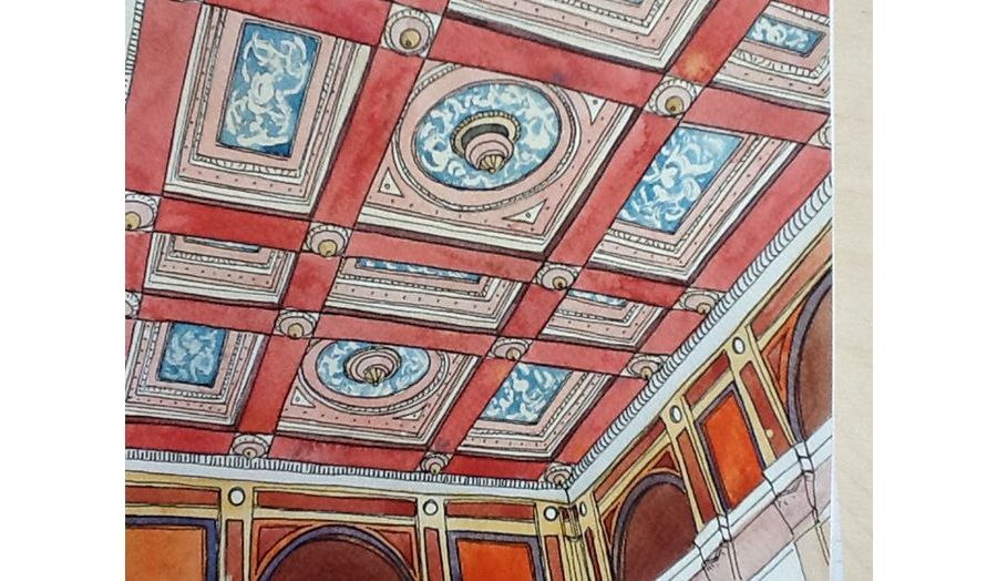 Royal Academy Senate Room, Ceiling