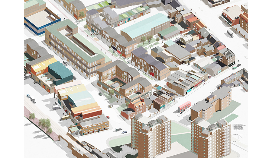 Axo Proposal, MA Spatial Planning and Urban Design