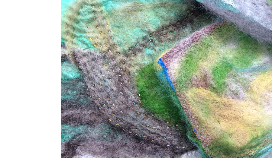 'Felted Stitch' Corners Project, wool
