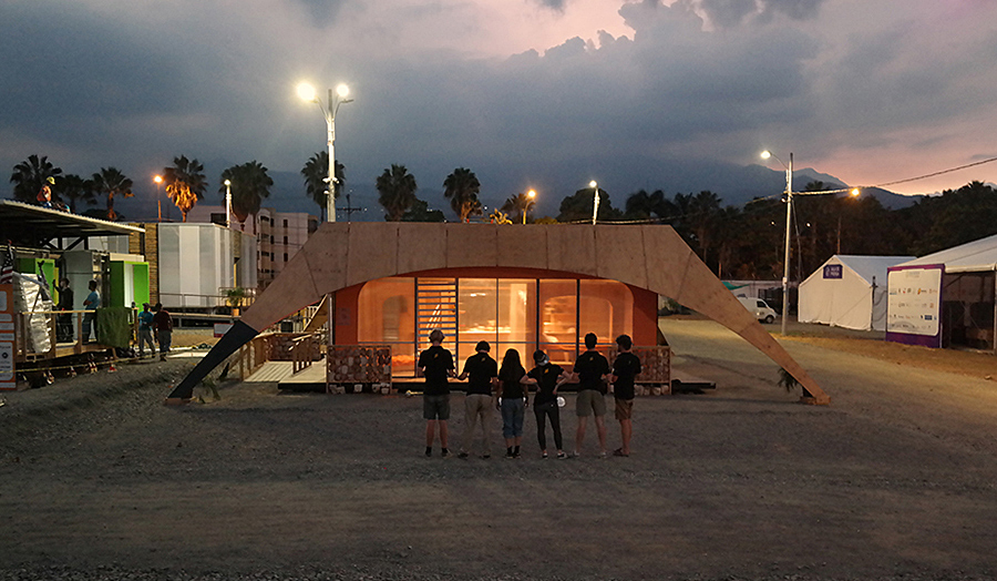 The Cass students build solar powered house in Colombia.