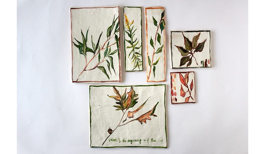 images of painted ceramic tiles