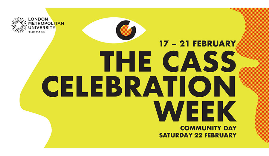 Graphic with text that reads, The Cass Celebration Week on yellow background