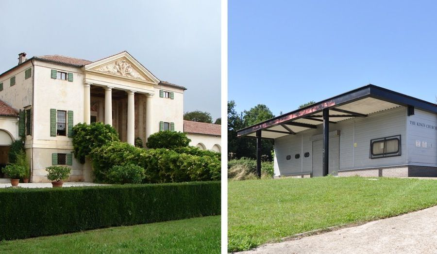New combinations - Palladio's Villa Emo, Veneto (C.16) and The Kings Church, Katherines & Sumners