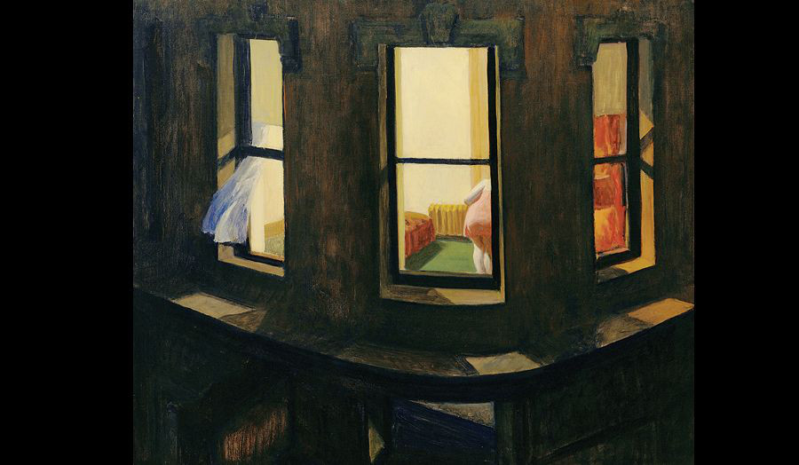 Edward Hopper, 1928. Night Windows. Oil on Canvas