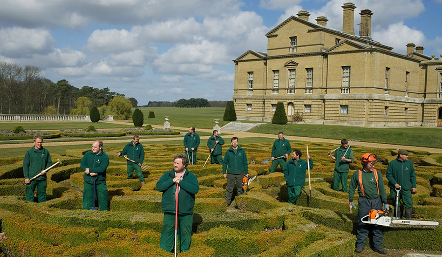 unit 13: The landscape team in the gardens of Holkham Hall, Chris Steele-Perkins
