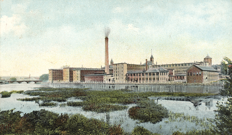 Waltham Watch Factory Postcard, 1910