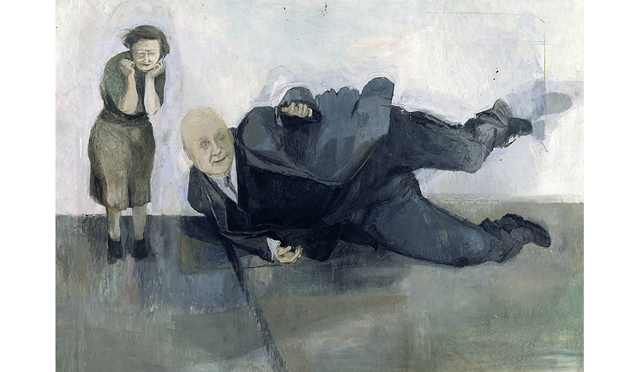 Michael Andrews, A Man who Suddenly Fell Over, 1952