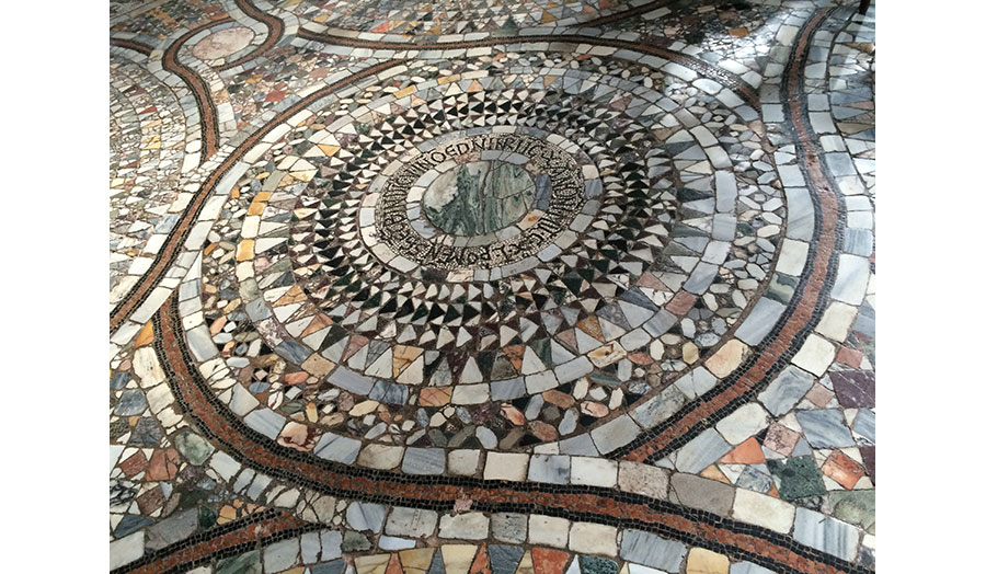 Floor Mosaics in the Church of Santa Maria and San Donato, Murano, Italy, c.1140; arrangements which evoke cosmic systems but are averse to theory as we understand it today.