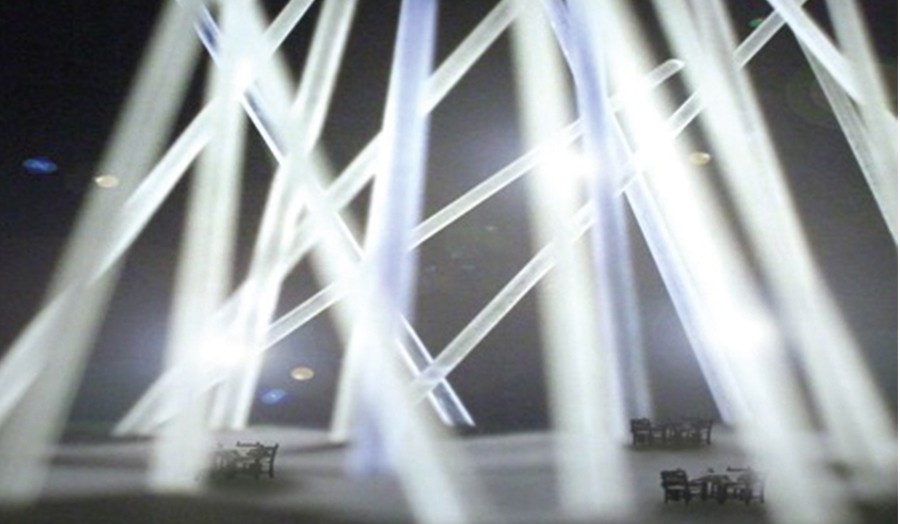 Light rods for transient community space