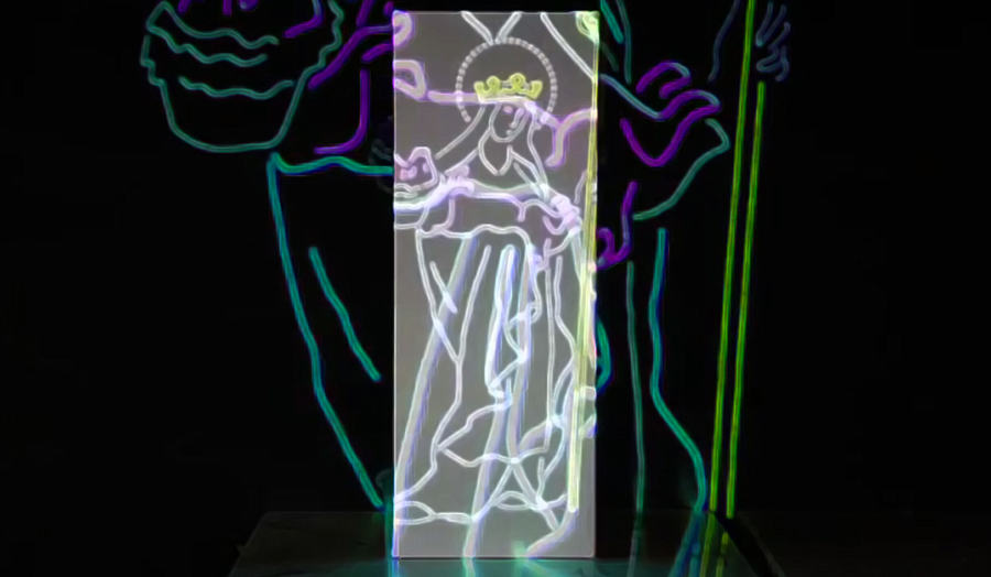 Eat Me, Drink Me – John Taber, Major Project, Projection Mapping Installation 2016