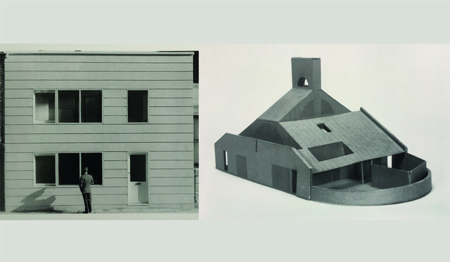 Building facade and architectural model