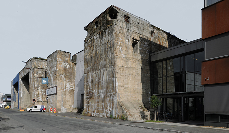 Giant concrete structure in disrepair