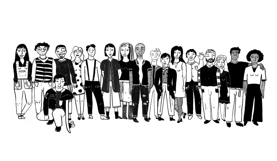 Illustration of a group of people