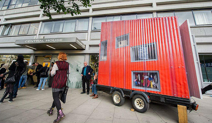 Mobile workshop at Aldgate campus
