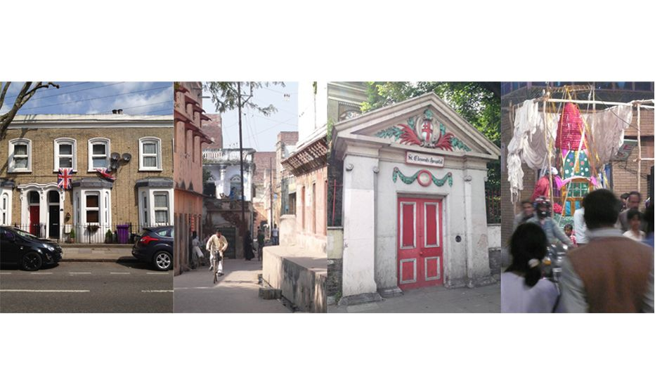Image: Comparison of buildings from England and India