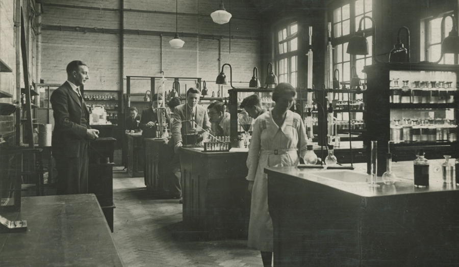 Historical photo science lab