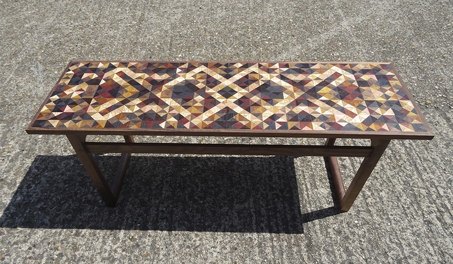 Imbue' walnut and marquetry coffee table - Gavin Smith