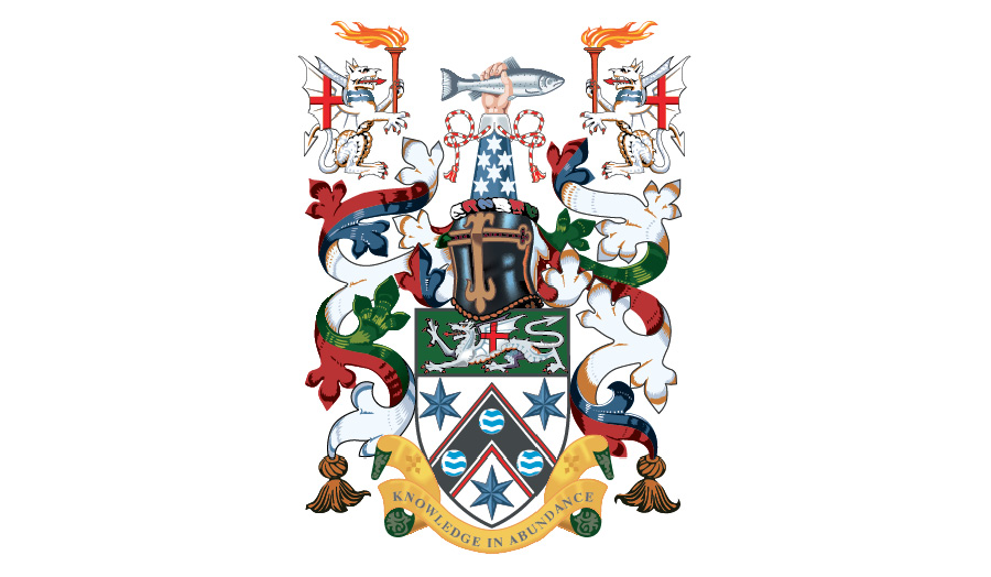 The coat of arms / crest for London Met