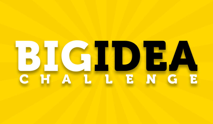 London Met Big Idea Challenge logo on a yellow background