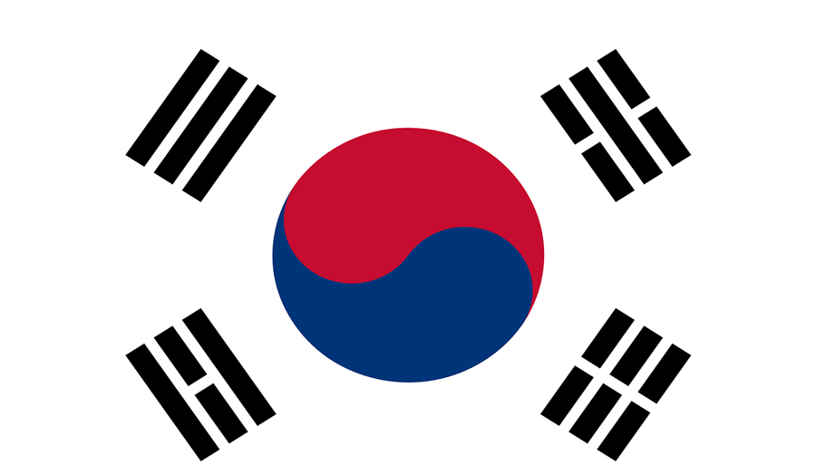 South Korea country flag
