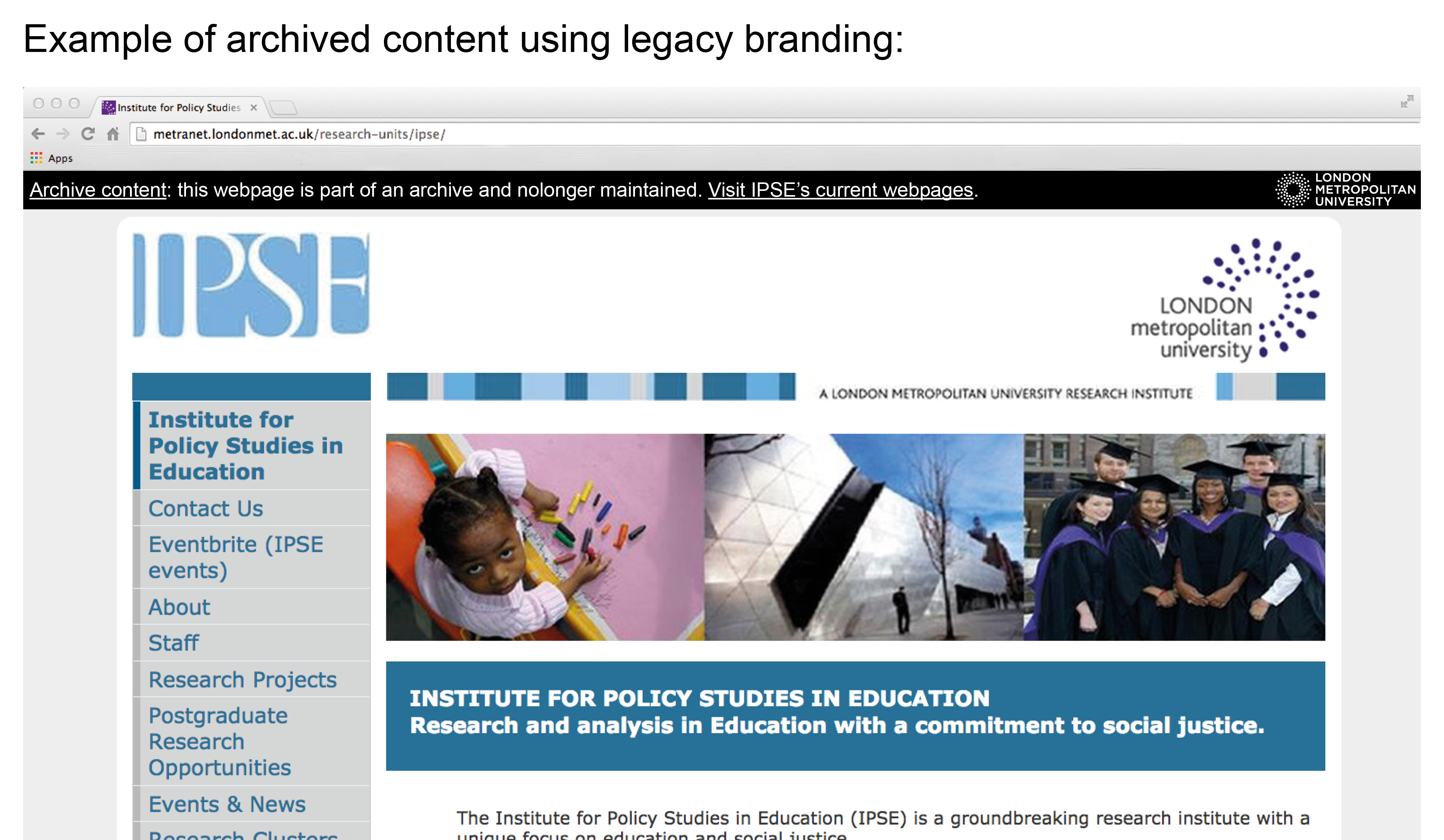 Example of archived web content