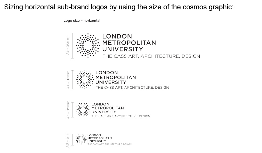 Sizing the horiziontal sub-brand logos