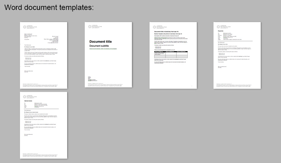 professional word document templates