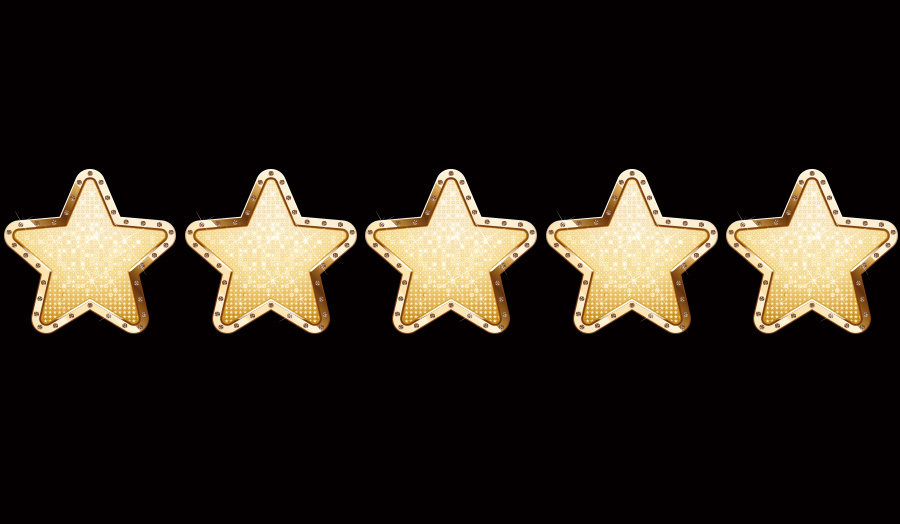 Five star student promise image of five stars