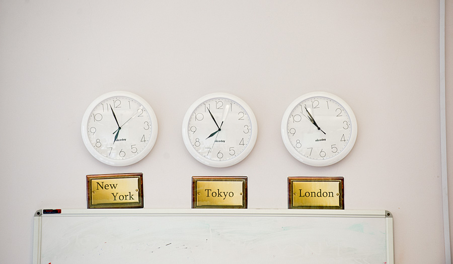 Newsroom clocks