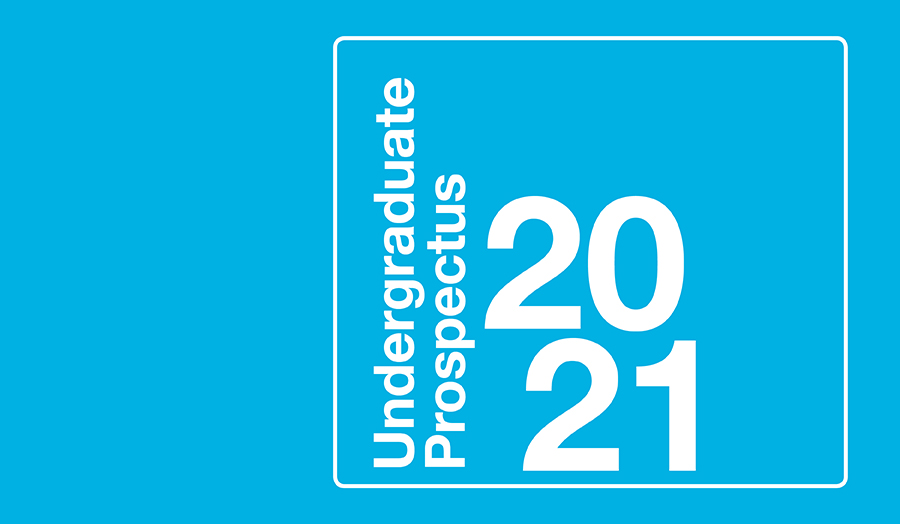 The cover of the Undergraduate Prospectus 2020–21