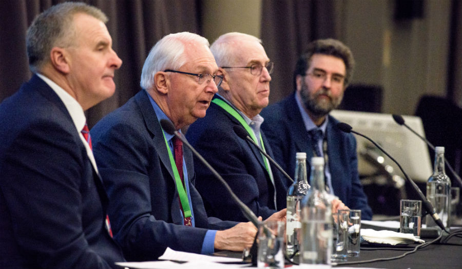 Professor Peter McCaffery, Randy Neugebauer, Vic Fazio and Dr Andrew Moran by Steve Blunt