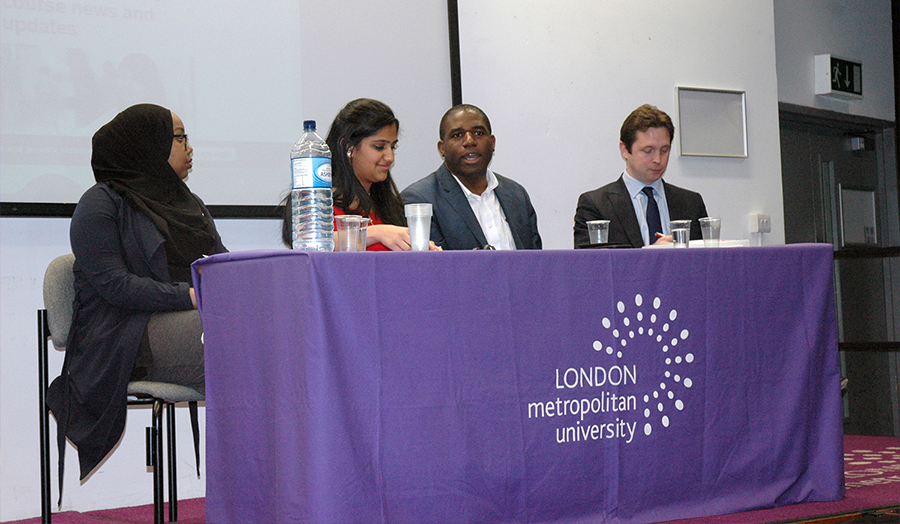 Generation Vote panel discussion with David Lammy, Alex Burghart, Mita Desai and Hiba Warsame.