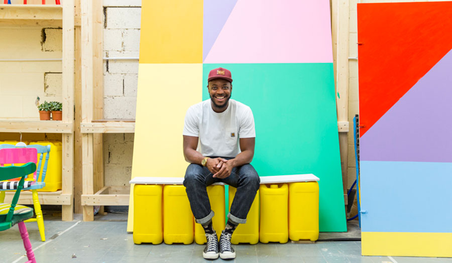 Yinka in his studio