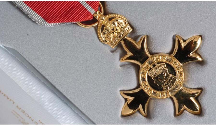 An empire medal from the Queen's birthday honours list