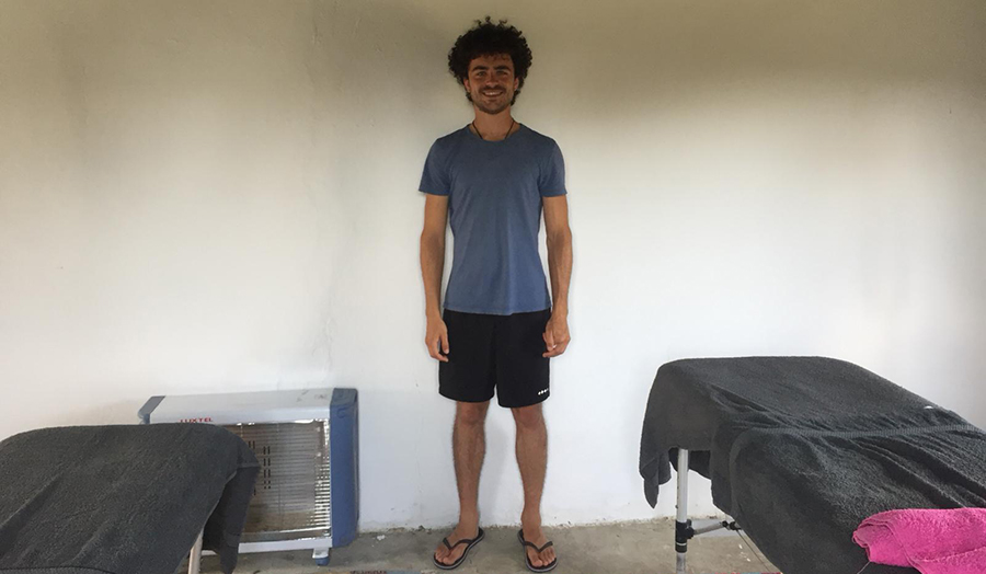 Will pictured in Lesvos