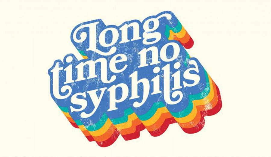 Logo reading 'Long time, no syphilis'