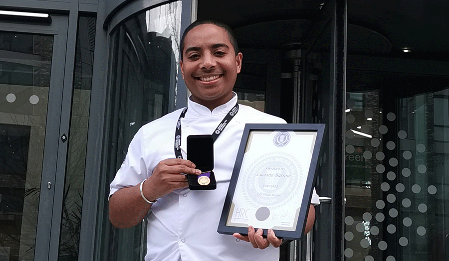 Luciano Barrow, with his International Salon Culinaire award