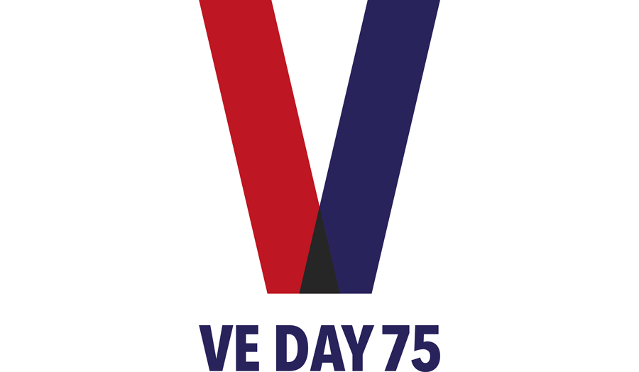 VE Day 75 logo