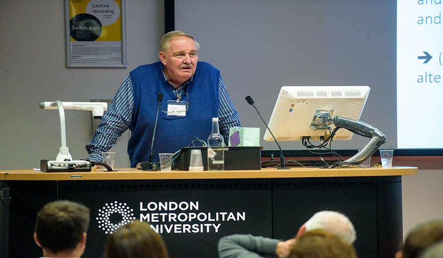 Professor David Nutt speaking at the Street Drugs in the Big Smoke conference
