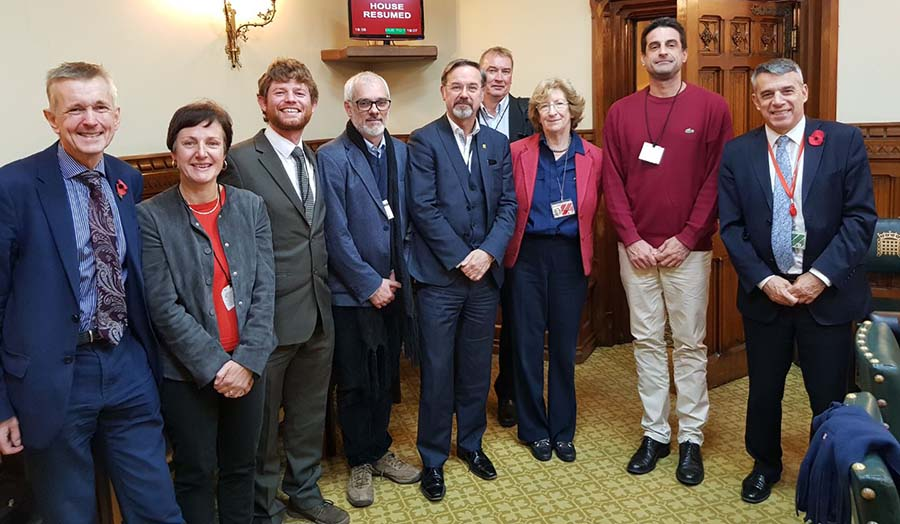 James Morgan, Marcos Baudean and Nuno Capaz at Parliament with other drugs policy experts